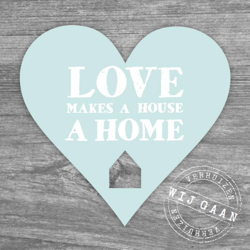 Verhuiskaarten - Verhuiskaart Love Home Heart