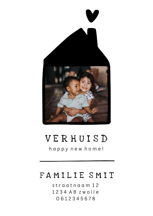 Verhuiskaarten - Verhuiskaart met lief huisje en foto
