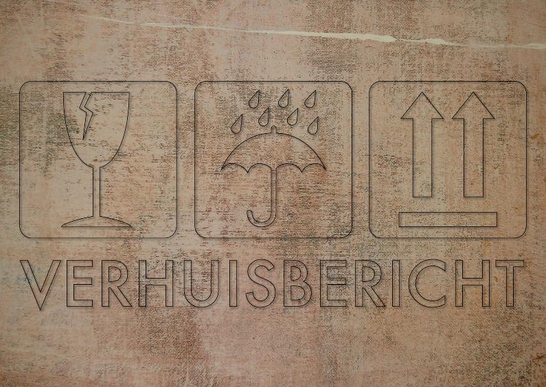 Verhuiskaarten - verhuiskaart met verhuisdoos symbolen