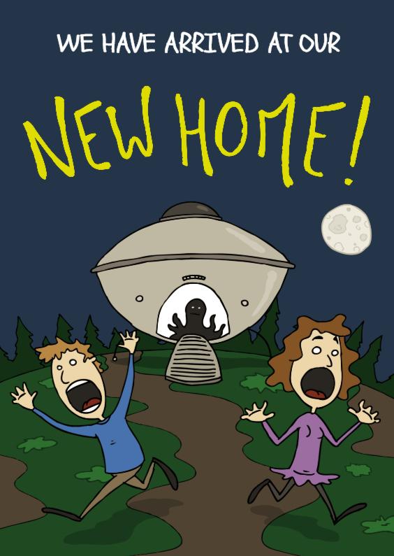Verhuiskaarten - Verhuiskaart New Home Alien