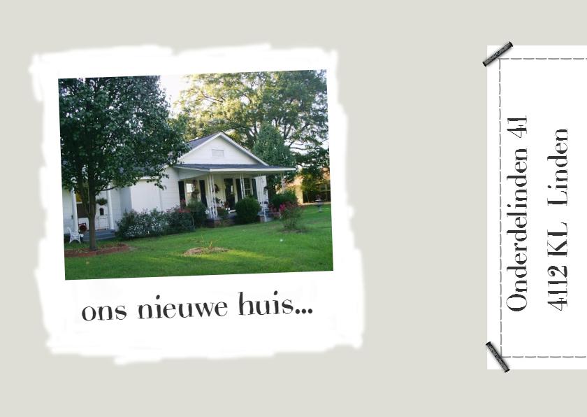 Verhuiskaarten - Verhuiskaart ons nieuwe huis