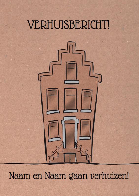 Verhuiskaarten - Verhuiskaart pand op kartonprint