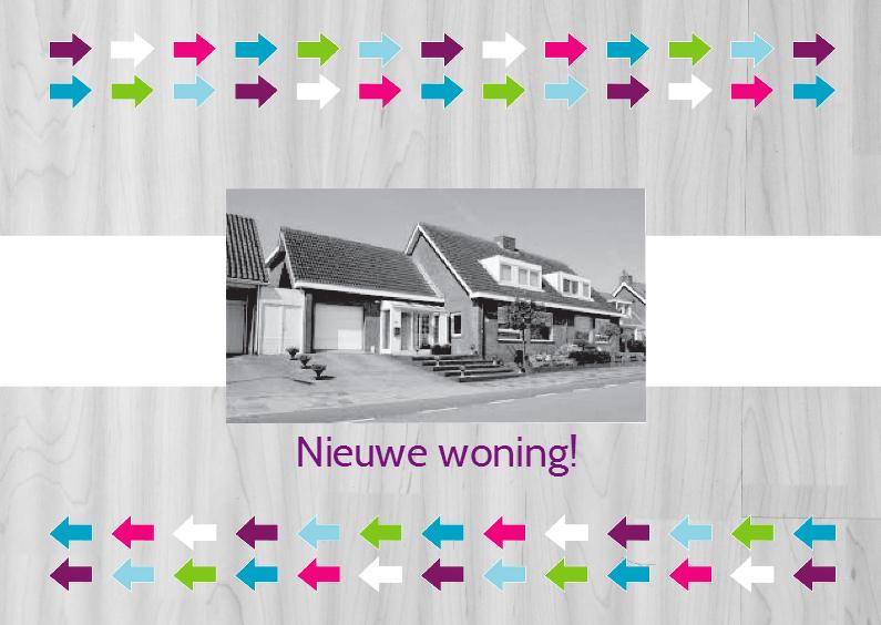 Verhuiskaarten - Verhuiskaart pijlen met foto