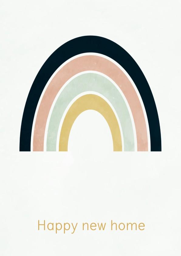 Verhuiskaarten - Verhuiskaart regenboog