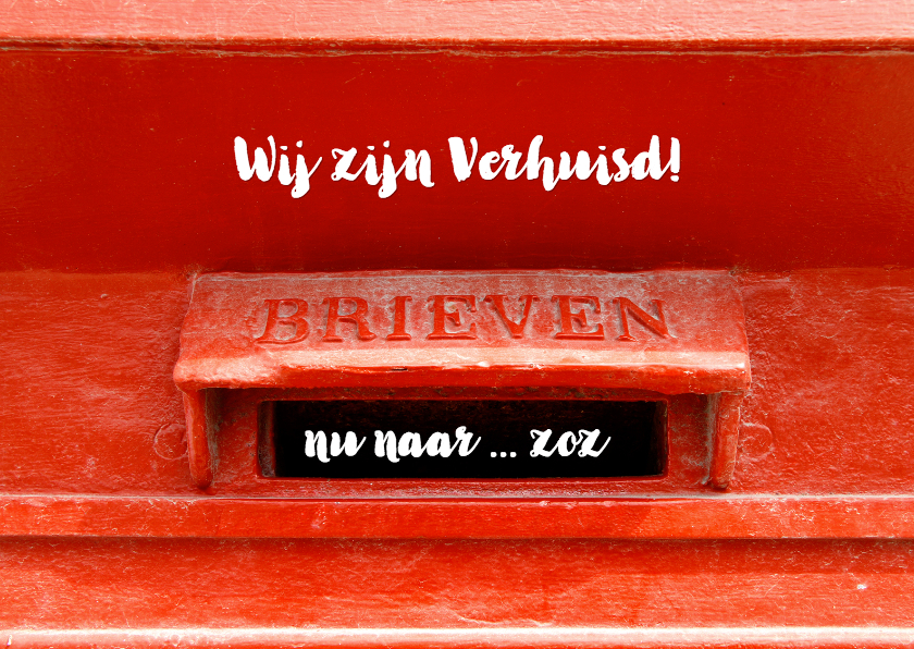 Verhuiskaart Rode Brievenbus OT 1