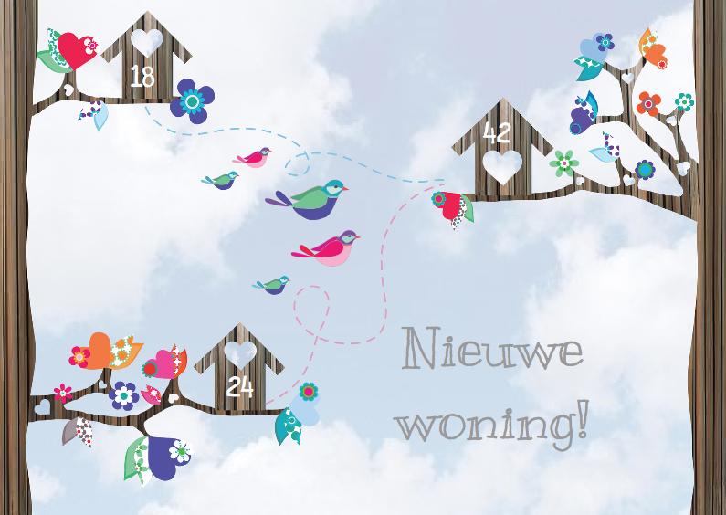 Verhuiskaarten - Verhuiskaart samenwonen lucht