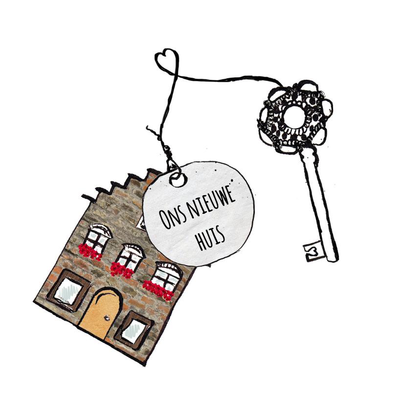 Verhuiskaarten - Verhuiskaart sleutel nieuw huis