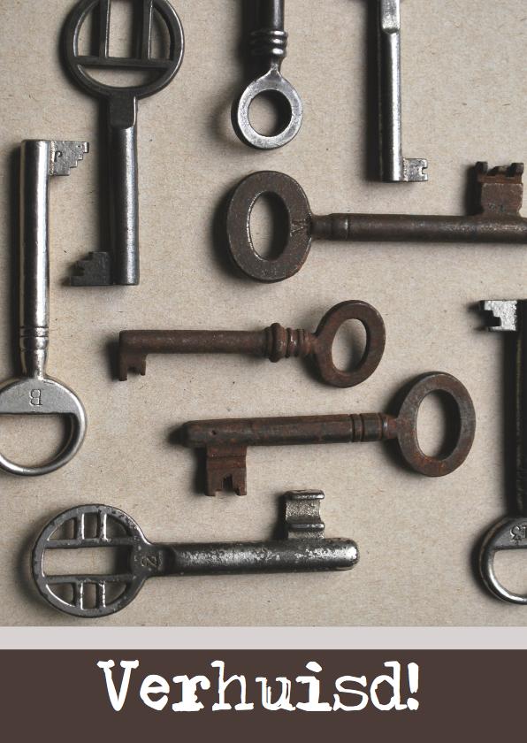 Verhuiskaarten - Verhuiskaart sleutels av