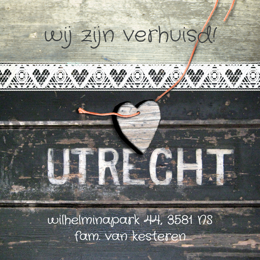 Verhuiskaarten - verhuiskaart Utrecht