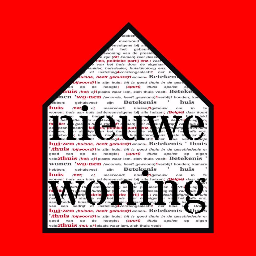 Verhuiskaarten - verhuiskaart woordenboek - AW