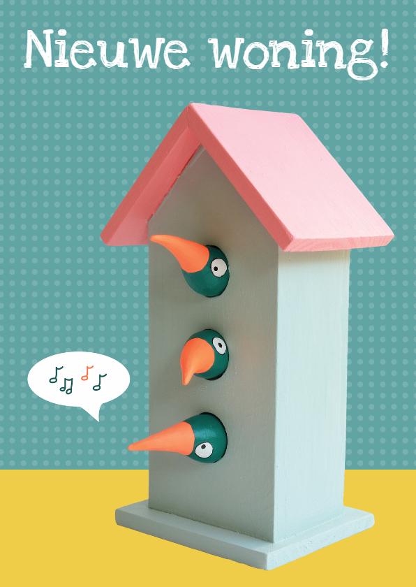 Verhuiskaarten - Verhuiskaarten vogelhuisje
