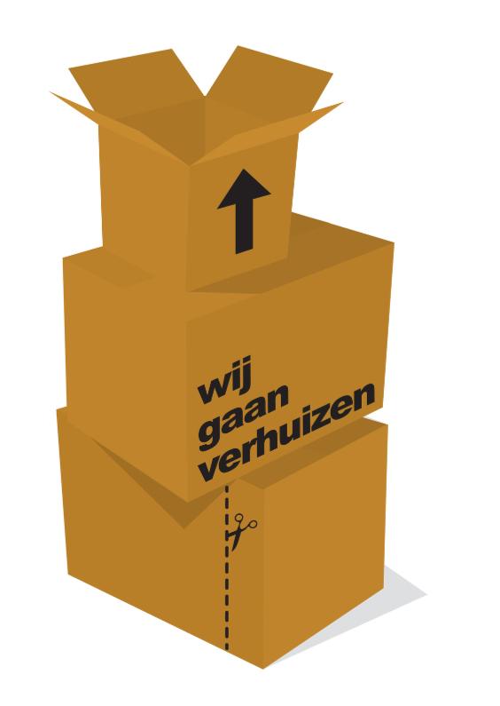 Verhuiskaarten - Verhuizen Bruine Dozen
