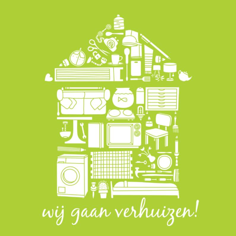 Verhuiskaarten - Verhuizen Icoontjes Huis