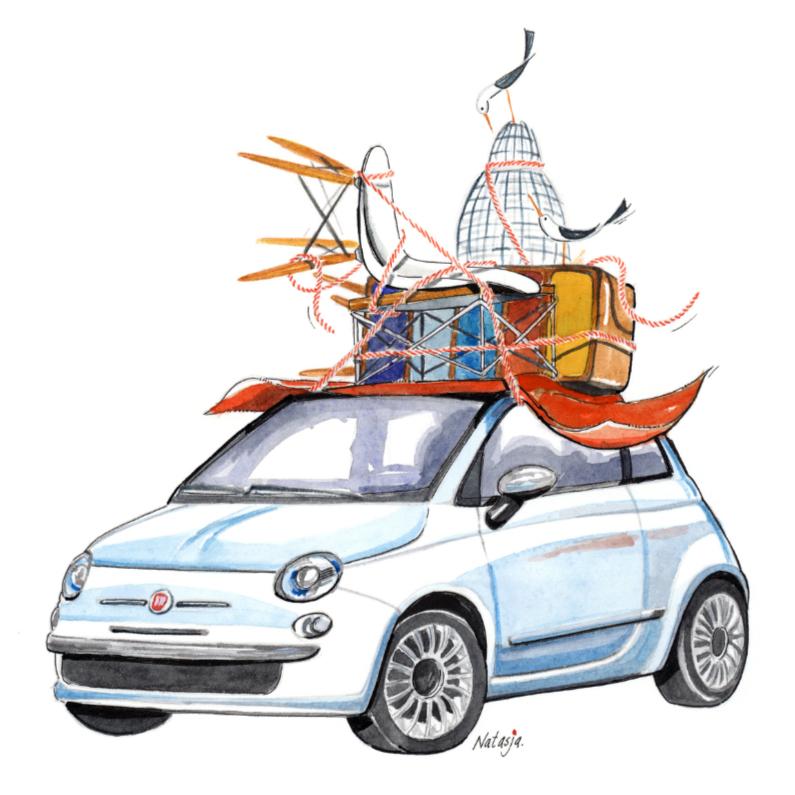 Verhuiskaarten - Verhuizen met de Fiat 500