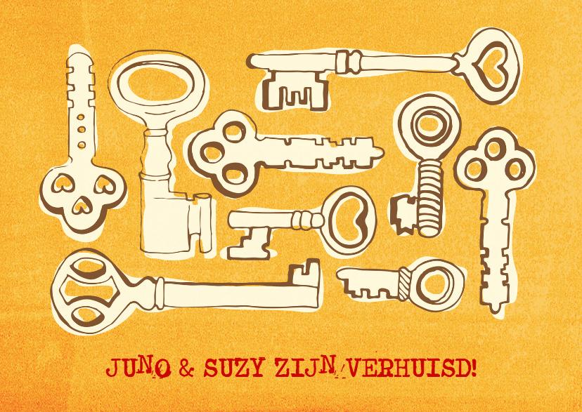 Verhuiskaarten - Verhuizen nieuw huis!