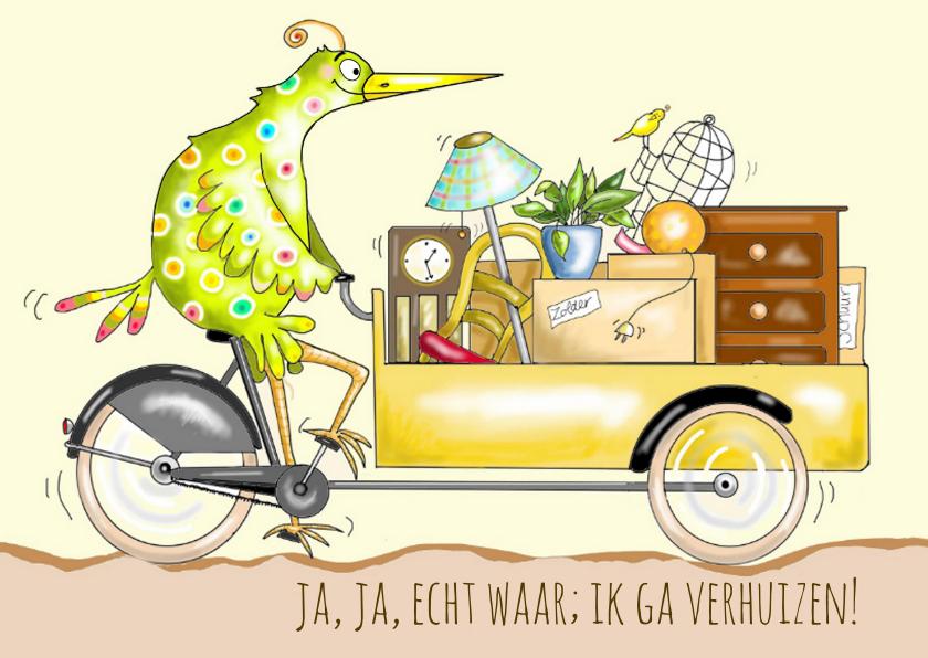 Verhuiskaarten - Vogel gaat verhuizen