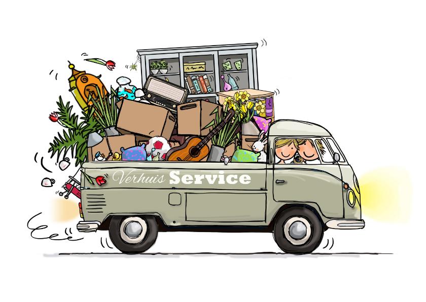 Volkswagen pickup verhuiskaart verhuiskaarten kaartje2go for Ik ga verhuizen