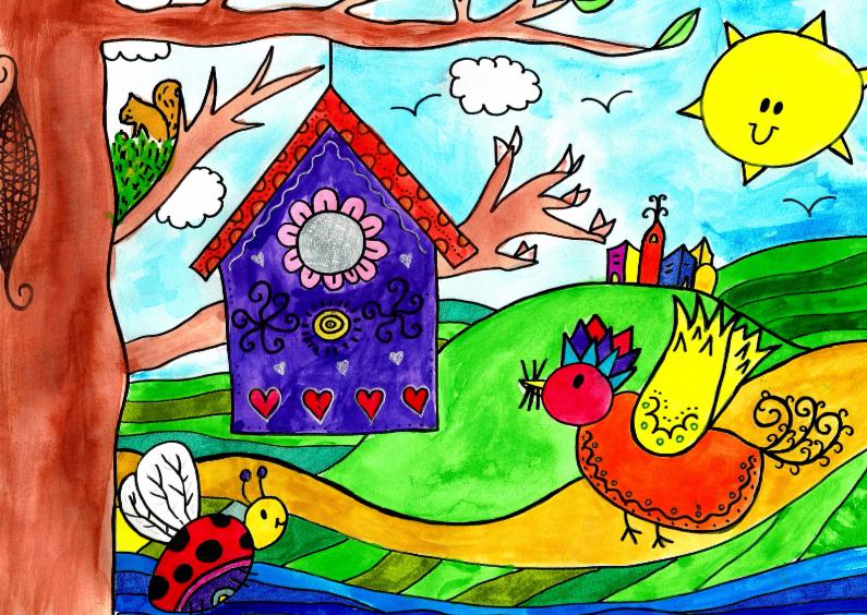 Verhuiskaarten - Vrolijk in lente met zon