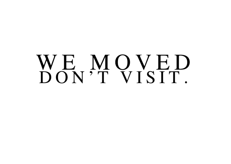 Verhuiskaarten - we moved don t visit