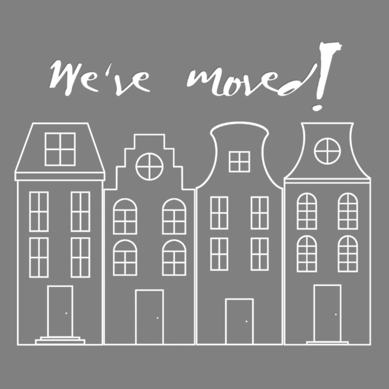 Verhuiskaarten - We've moved! verhuiskaart