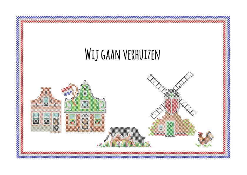 Verhuiskaarten - Zaanse huisjes in kruisjes