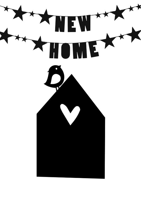 Verhuiskaarten - zwart wit verhuiskaart