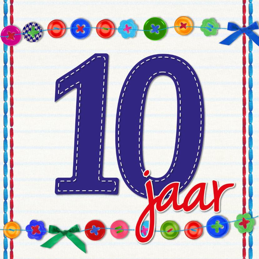 Verjaardagskaarten - 10 jaar tien verjaardag -BF