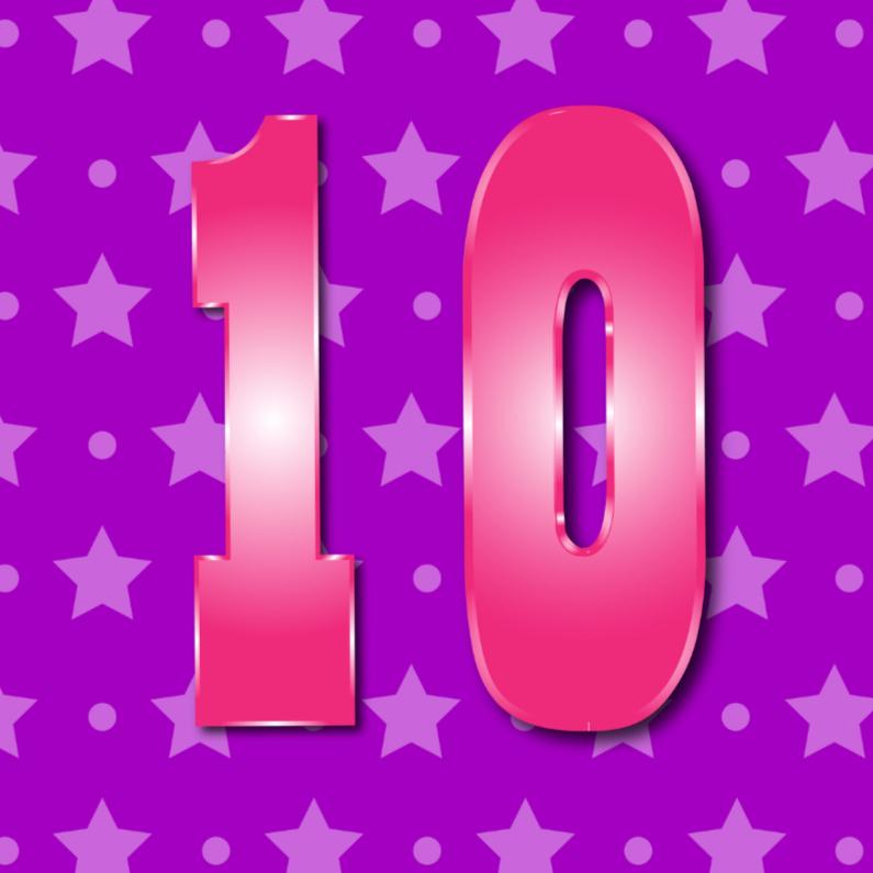 Verjaardagskaarten - 10 jaarM