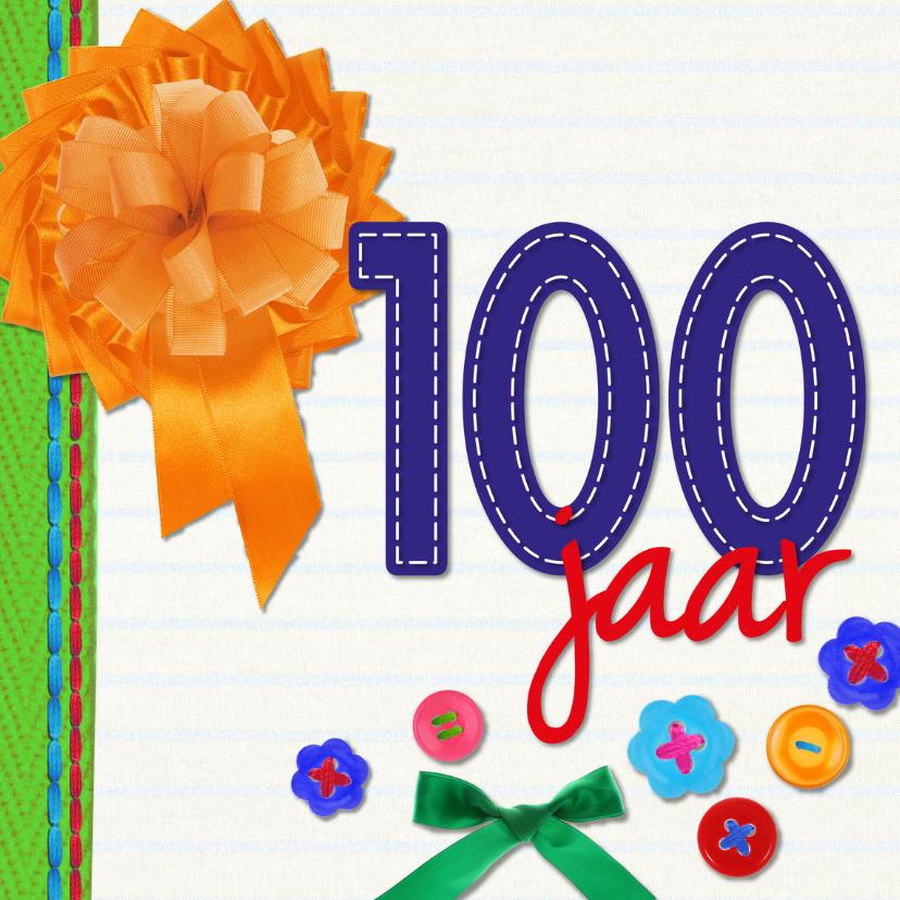 Verjaardagskaarten - 100 jaar gefeliciteerd -BF