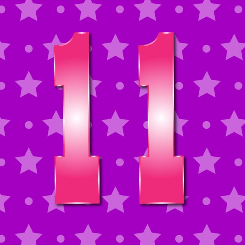 Verjaardagskaarten - 11 jaarM