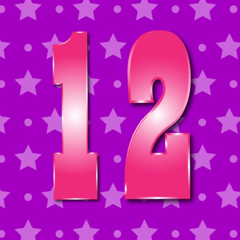Verjaardagskaarten - 12 jaar meisje