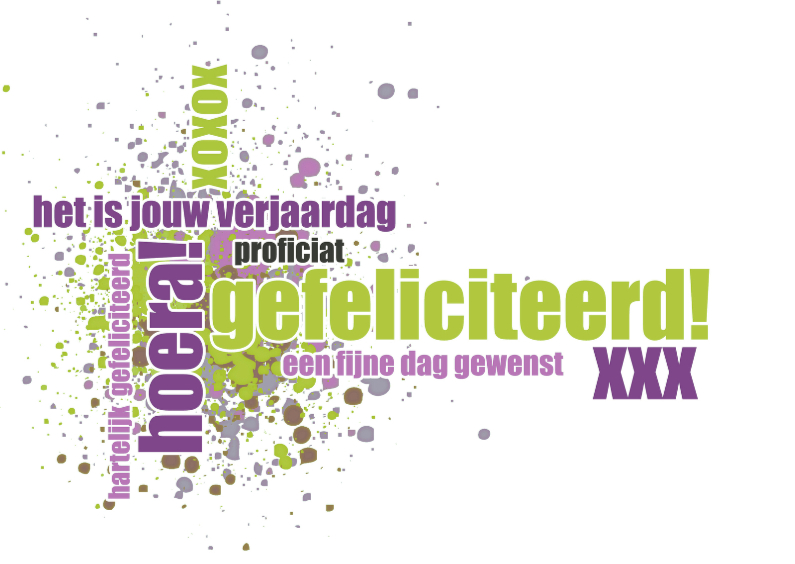 Verjaardagskaarten - 13065 Verjaardagskaart xoxox