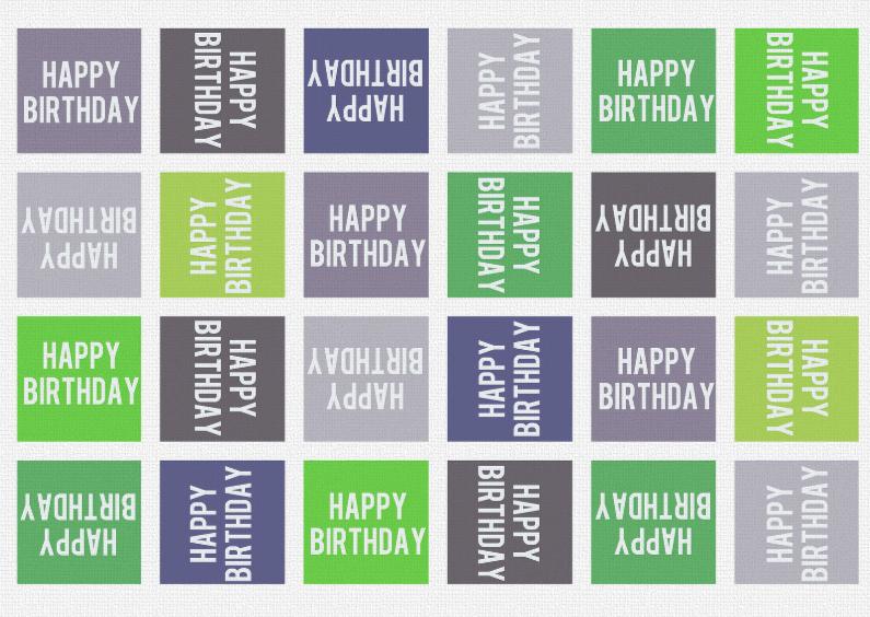 Verjaardagskaarten - 13097 Verjaardagskaart Happy Birthday