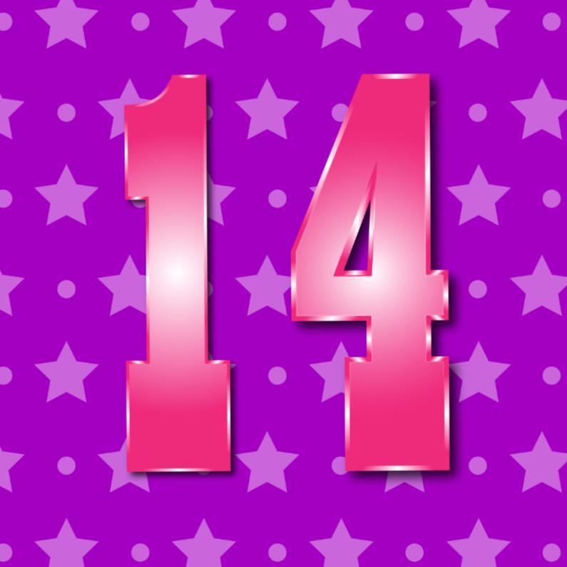 Verjaardagskaarten - 14 jaarM
