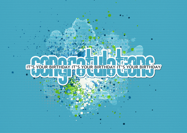 Verjaardagskaarten - 14180 Congratulations