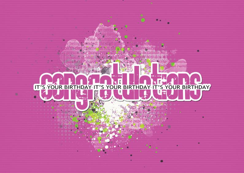 Verjaardagskaarten - 14181 Congratulations