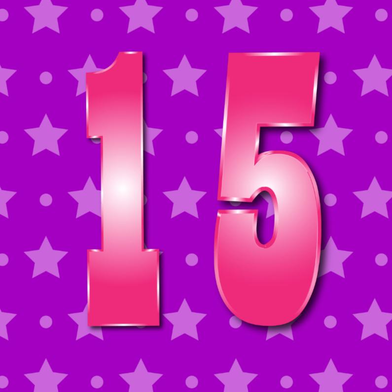 Verjaardagskaarten - 15 jaarM