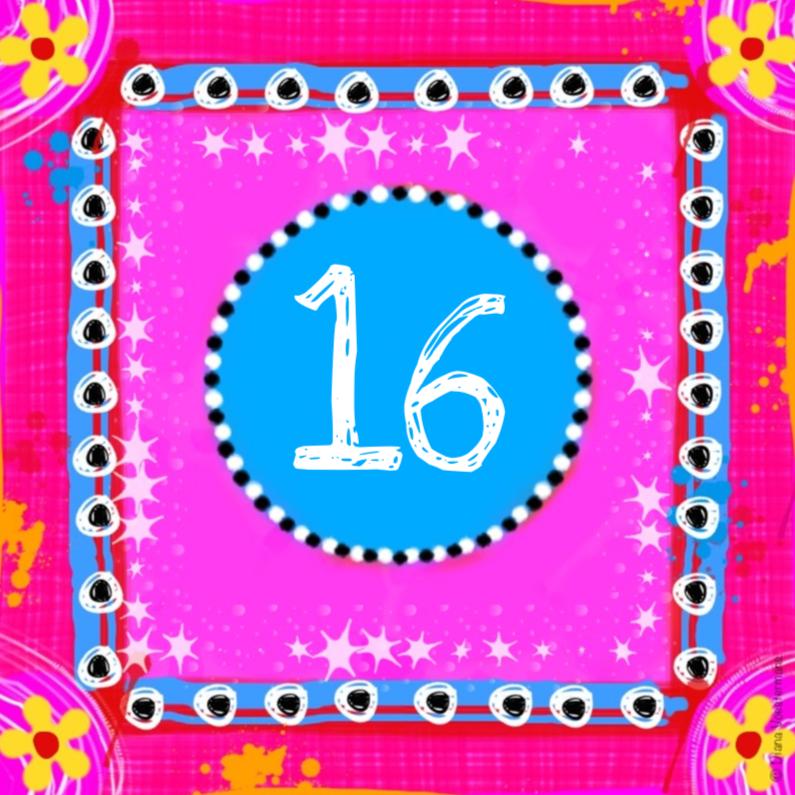 Verjaardagskaarten - 16 kleurrijk