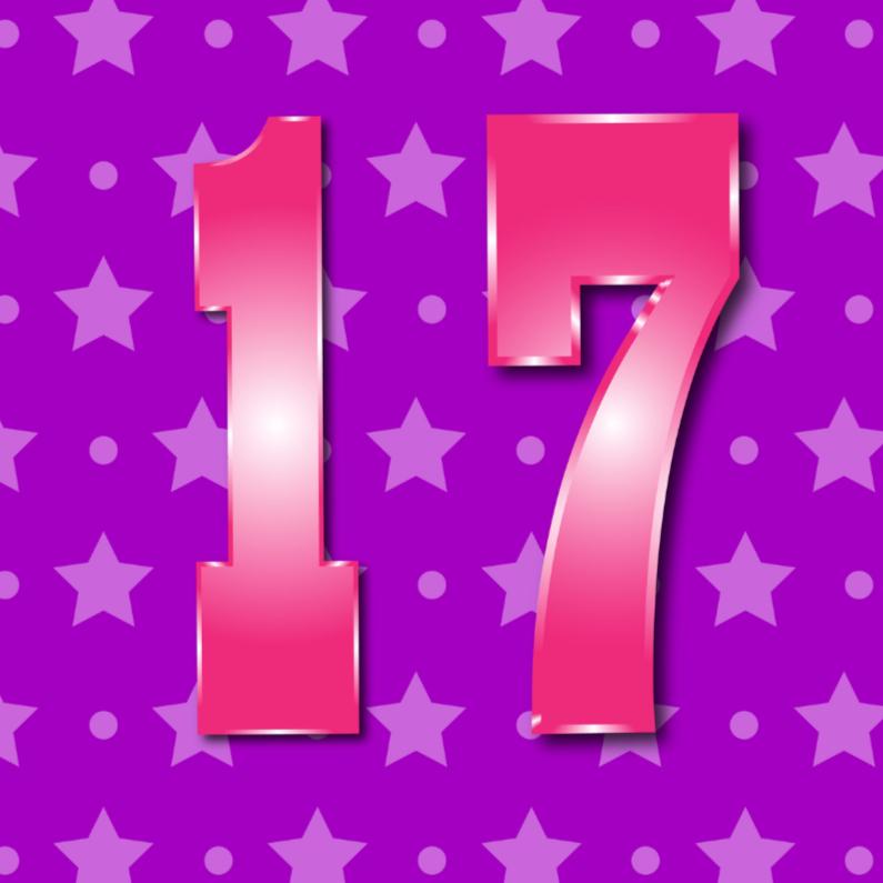Verjaardagskaarten - 17 jaarM