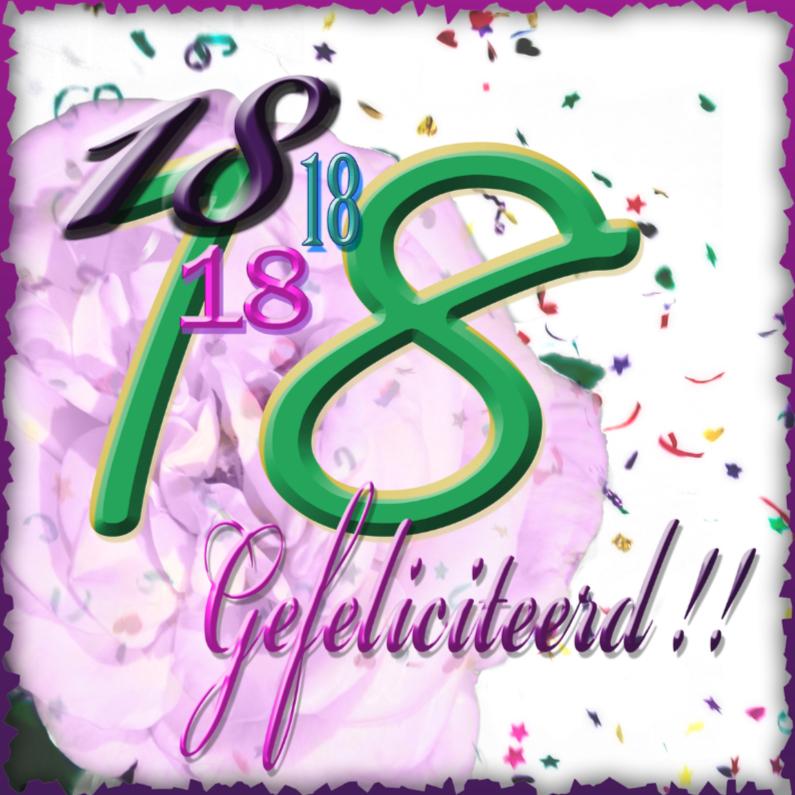 Verjaardagskaarten - 18 feli