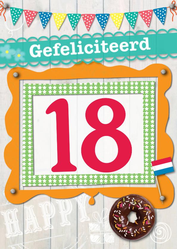 Verjaardagskaarten - 18 gefeliciteerd-ByF