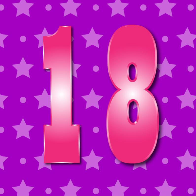 Verjaardagskaarten - 18 jaarM