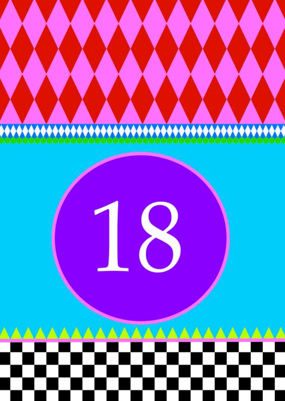 Verjaardagskaarten - 18 kleurrijk