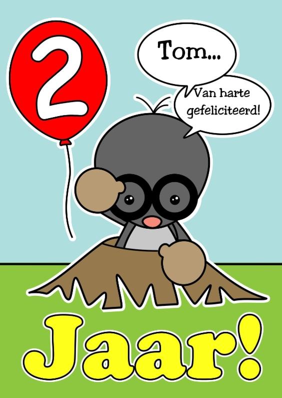Verjaardagskaarten - 2 Jaar Gefeliciteerd met ballon