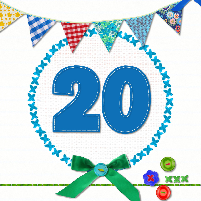 Verjaardagskaarten - 20 jaar verjaardag -BF