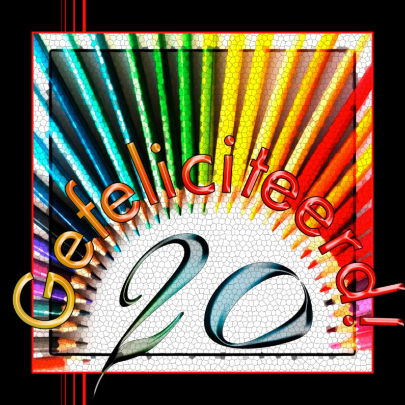 Verjaardagskaarten - 20 kleurtjes