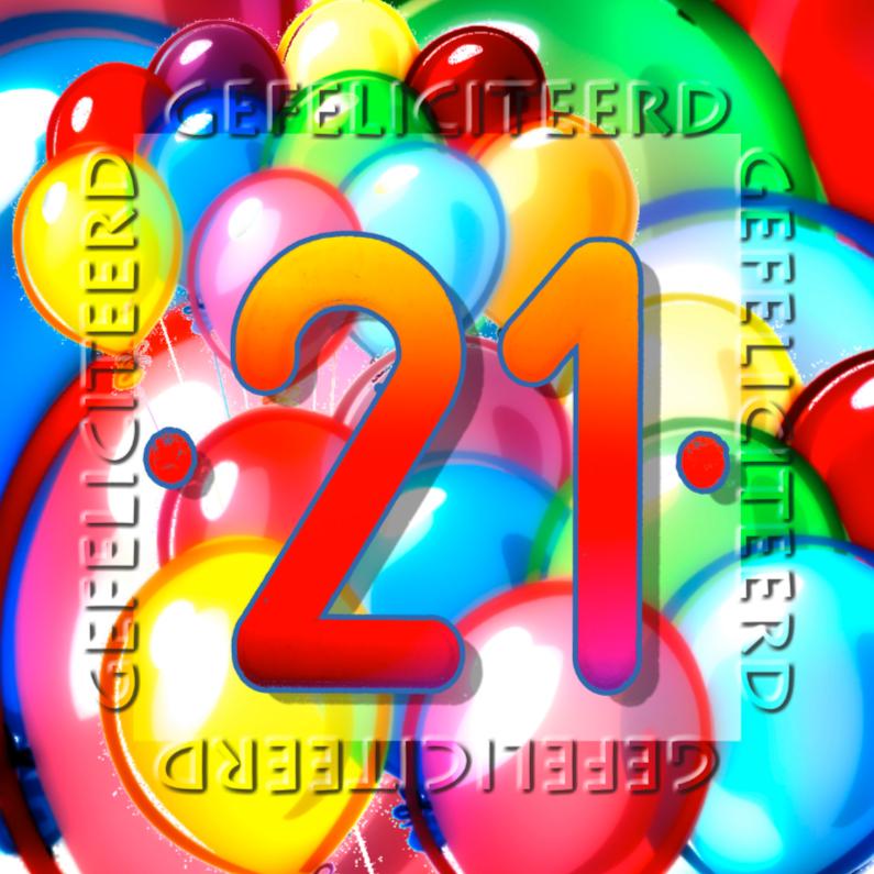 Verjaardagskaarten - 21 4knt