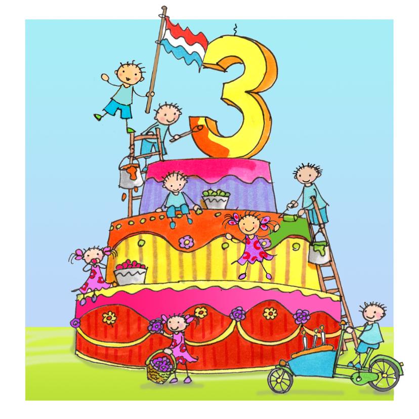 Verjaardagskaarten - 3 jaar Anet Illustraties