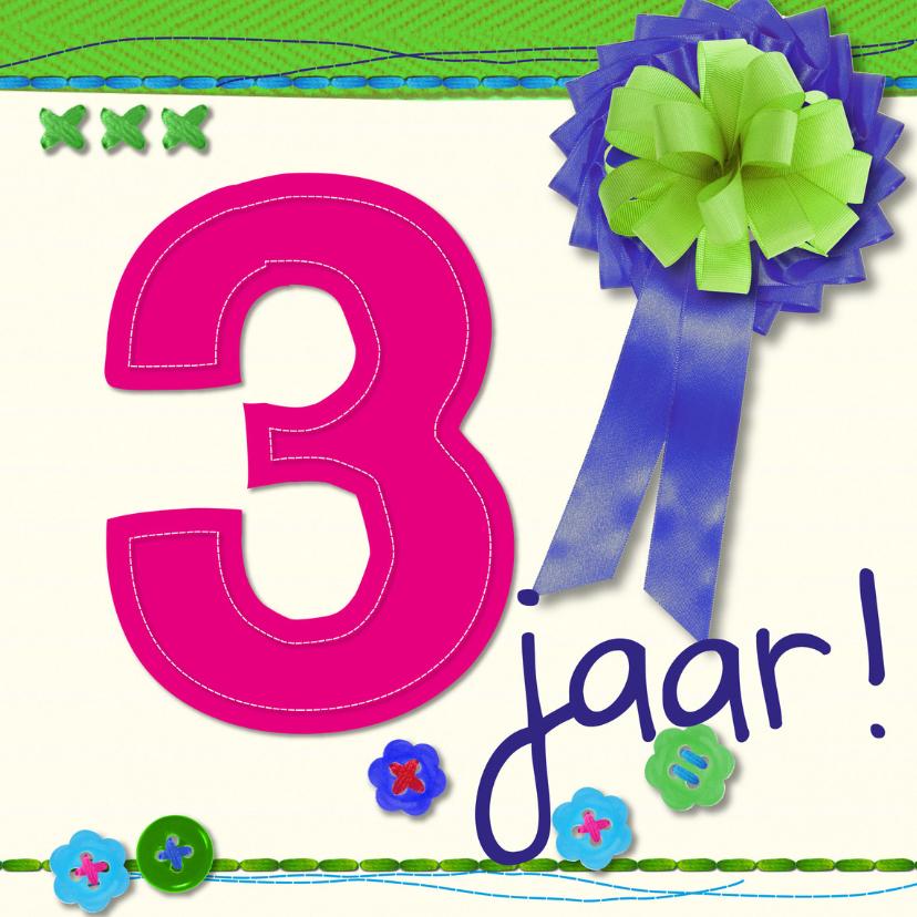 Verjaardagskaarten - 3 jaarverjaardag -BF