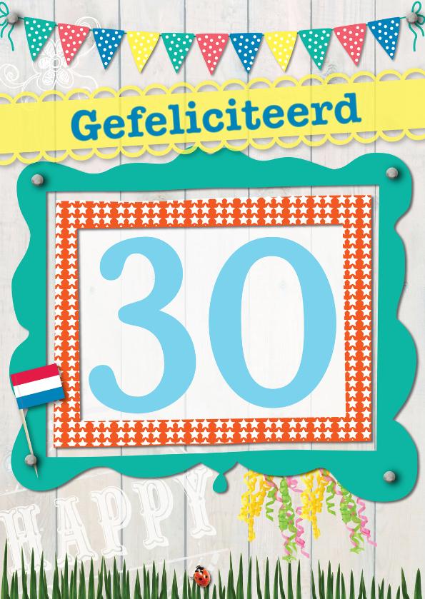 Verjaardagskaarten - 30 gefeliciteerd L04